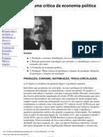 Para Uma Ccrítica Da Economia Política Marx
