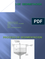Proceso de Sedimetacion