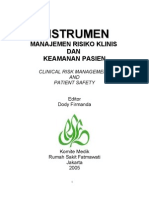 Dody Firmanda 2005 - 054. Instrumen Clinical Risks Management & Patient Safety RSF