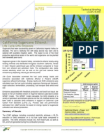 Lifecycle Analysis of Sugarcane in California