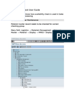 Availability Check_Sales User Guide