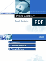 Pricing Delivery