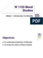 Mpw 1153 Moral Studies Week 1 Lesson