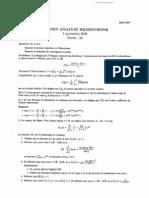 Examen L3 Analyse Hilbertienne et de Fourier 2006 1