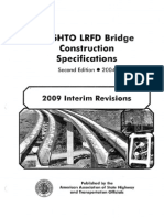 AASHTO LRFD Bridge Construction Specifications 2009 Interim