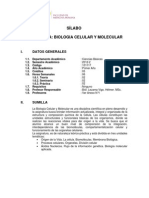 SÍLABO - Biología Celular y Molecular 2012