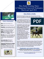 Tulipsprings Eventing Clinic Flyer