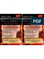 Gelatin Plate Printmaking Workshop Flyer