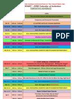 Schedules 2009 - January to June Calendar of Activities