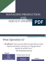 Managing Production