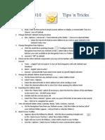 Outlook 2010 Tips n Tricks