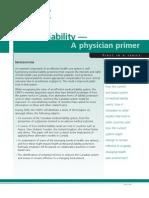 Medical Liability a Physician Primer