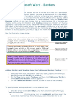 Microsoft Word - Borders Tutorial
