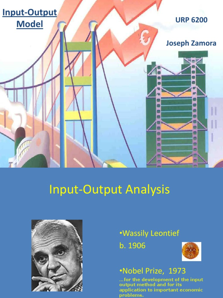 wassily leontief input output model