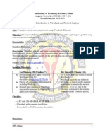 LABSHEET-1 Introduction to the Wireshark and Analysis of a Given Set of Protocols