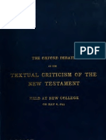 Oxford Debate on Textual Criticism of the New Testament