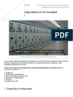 Bus Switching Configurations in Air Insulated Substations AIS