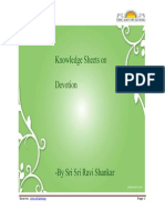 Knowledge Sheets on Devotion - By Sri Sri Ravi Shankar