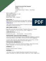 English CV Sample Full