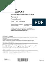 15 FP3 Practice Paper A
