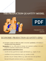 The Production Qauntity Model