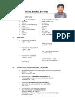 Curriculum Vitae Jorge Edson Fiestas Periche