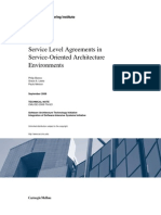 Service Level Agreements in Service-Oriented Architecture Environments