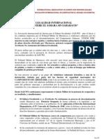 COMUNICADO ASOCIACIÓN INTERNACIONAL DE JURISTAS POR EL SÁHARA OCCIDENTAL Marzo 2013