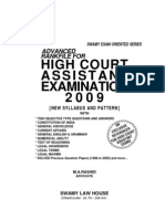 Rank File for Kerala High Court Assistant Exam 2009 by Advocate m.a.rashid