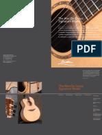 Alex de Grassi Signature Model Catalogue page from George Lowden Guitars, handmade in Ireland
