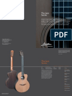 Jazz Series Catalogue page from George Lowden Guitars, handmade in Ireland