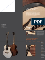 Pierre Bensusan Signature model Catalogue page from George Lowden Guitars, handmade in Ireland