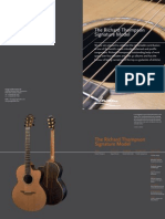 Richard Thompson Signature model catalogue page from George Lowden Guitars, handmade in Ireland