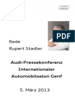Rupert Stadler - Internationaler Automobilsalon Genf - 2013