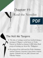 Rizal and his Novel Noli Me Tangere