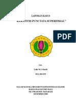 Keratitis Punctata Superfisialis