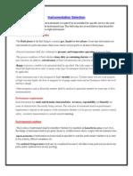 Instrumentation Work Procedure