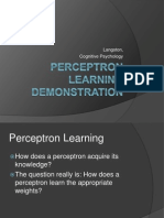 Percept Ron Learning