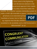 Congruent Communication