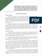 Resolución Evaluacion Ambiental Golf