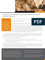 CaseStudy Consolidating Data Center Operations With Zero Business Disruption