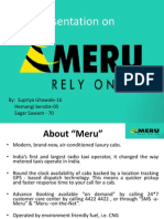 37147067 Presentation on Service Industry Meru