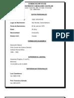 Curriculum Vitae Amner Mauricio Caballero Aguilar