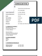 Curriculum Vitae Claudia Patricia Guity Bernardez