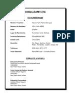 Curriculum Vitae Jeimy Alicia Benitez Pineda