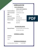 Curriculum Vitae Jessica Lizath Aquino Paz