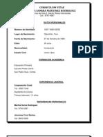 Curriculum Vitae Johanna Samira Martinez Rodriguez