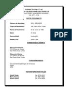 Curriculum Vitae Jose Mauricio Valerio Batiz