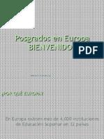 Posgrados en Europa