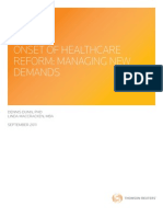 Onset of Healthcare Reform 090811